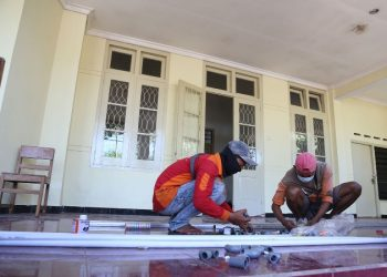 Rumah sehat di aset milik Pemkot Surabaya di Jalan Nias 110, Surabaya.