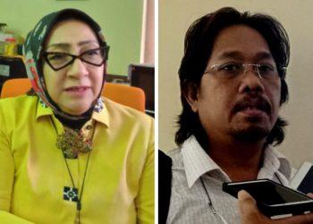 Ketua Komisi A DPRD Kota Surabaya, Pertiwi Ayu Krishna dan Wakil Ketua Komisi A Budi Leksono.