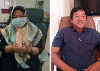 Ketua Komisi D DPRD Surabaya Khusnul Khotimah dan anggota Komisi D DPRD Surabaya Hari Santoso.