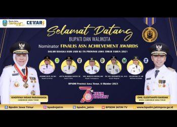 Pemprov Jatim menggelar ASN Achievement Awards 2021 yang dibagi menjadi dua kategori. Pertama, bagi kepala daerah akan diberikan penghargaan Lencana Jer Basuki Mawa Beya Emas. Kedua, bagi lembaga perangkat daerah BKD/BKPSDM kabupaten/kota akan mendapatkan piagam penghargaan dari gubernur Jawa Timur.