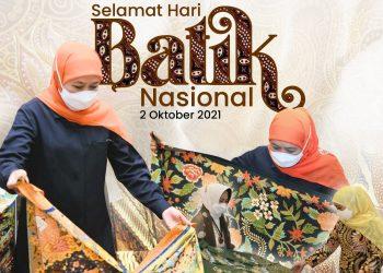 Dalam peringatan Hari Batik Nasional, Gubernur Jawa Timur Khofifah Indar Parawansa mengajak masyarakat membeli batik, bukan printing batik.