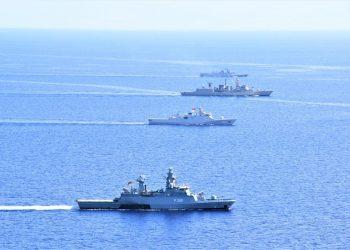 KRI Sultan Iskandar Muda-367 bersama tiga kapal asing dari milik angkatan laut Jerman, Bangladesh, dan Yunani berlatih bersama di Laut Mediterania. Keempat kapal ini tergabung dalam Satgas Maritime Task Force (MTF) TNI Konga XXVIII-M/UNIFIL.